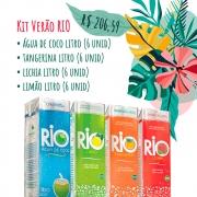 Kit Verão Rio: Água de Coco + Chás Tangerina, Lichia e Limão
