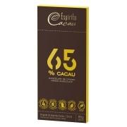Tablete chocolate 65% cacau  - 80g - caixa c/ 10 un.