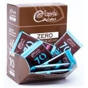 Tablete chocolate 70% cacau - zero açúcar  - 5g - caixa c/ 30 un.