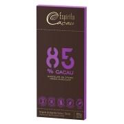 Tablete chocolate 85% cacau  - 80g - caixa c/ 10 un.
