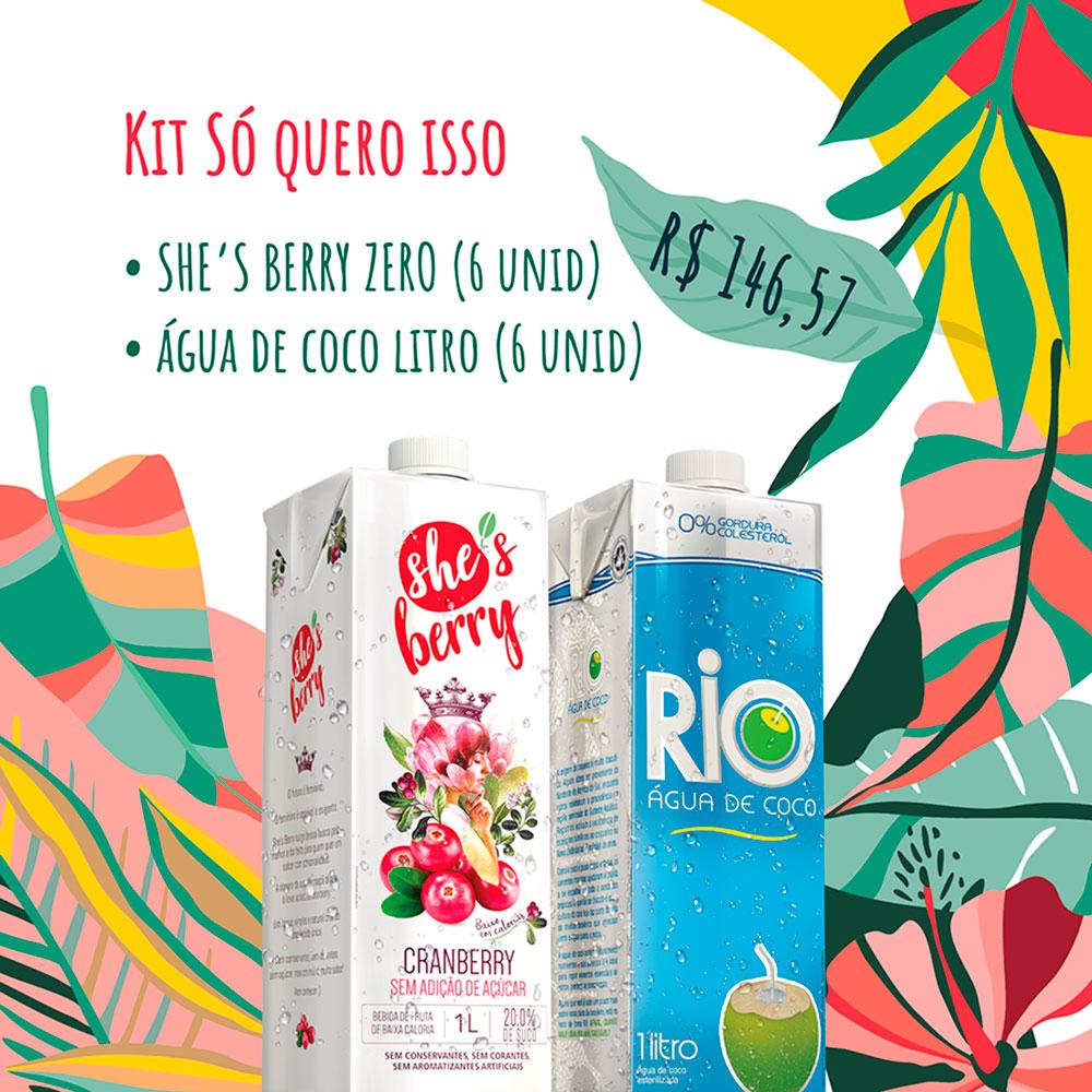 Kit Só Quero Isso: Cranberry Zero + Água de Coco