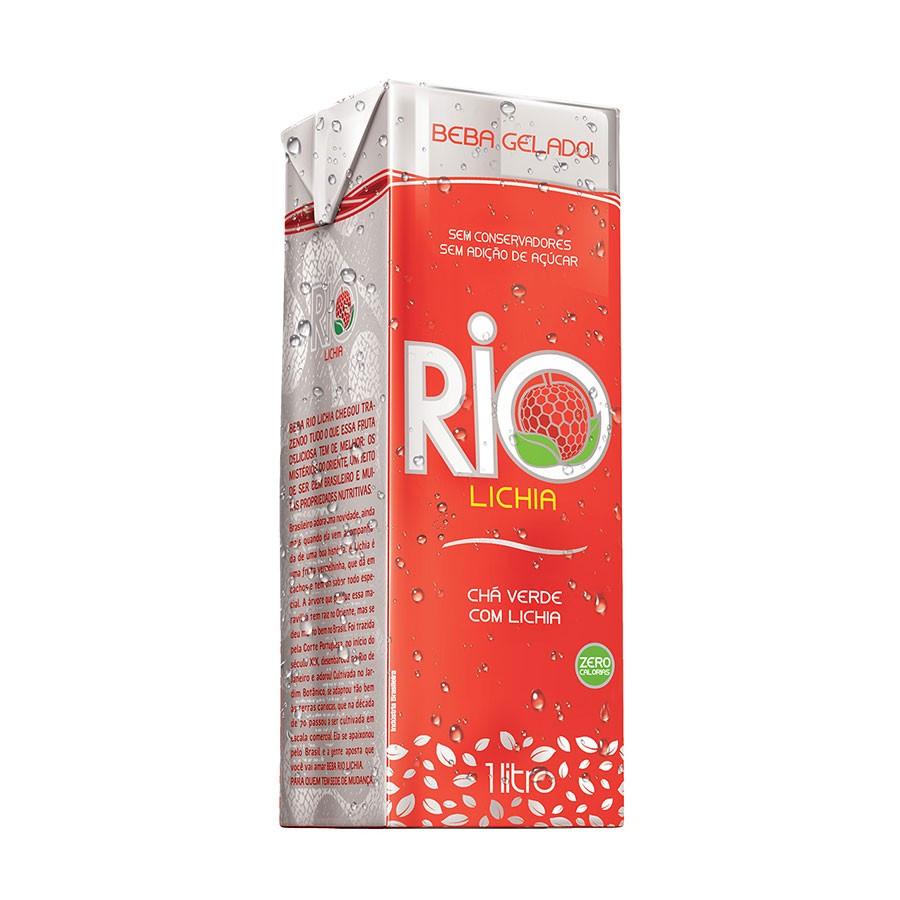 RIO CHA LICHIA 1 LITRO (cx. com 12 unidades)