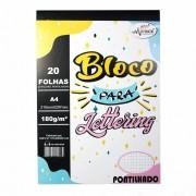 BLOCO A4 PONTILHADO 20F LETTERING MERCI