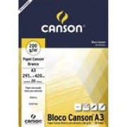 Bloco Canson Desenho 200 Branco 224g/m² A3 297 x 420 mm com 20 Folhas  66667044