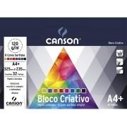 BLOCO CRIATIVO CARDS A4+ 120G 032F CANSON 8 CORES