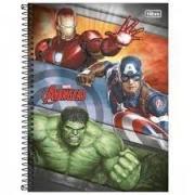 Caderno 01 Matéria Avengers CD 80 Folhas - TILIBRA