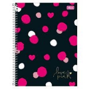 Caderno 10 Matérias Love Pink CD 160 Folhas - TILIBRA