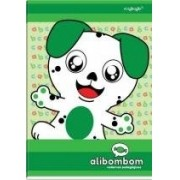 CADERNO ALIBOMBOM CD 80 FOLHAS 123 CAPA VERDE