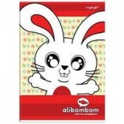 CADERNO ALIBOMBOM CD 80 FOLHAS 123X CAPA VERMELHO