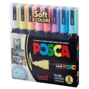CANETA POSCA PC-5M C/8 CORES