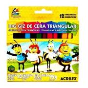 GIZAO DE CERA TRIANGULAR C/12 CORES