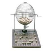 globo de Bingo Profissional Nº1 (pequeno) Cromado de 1 a 75 bolinhas -
