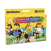 MASSA DE MODELAR 12 CORES ACRILEX