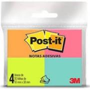 NOTA ADESIVA POST-IT 4 CORES TROPICAL