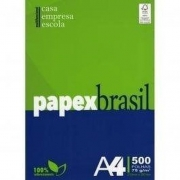 PAPEL SULFITE A4 PAPEXBRASIL C/500 FLS 75G