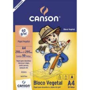 Papel Vegetal A4 60g com 50 folhas - CANSON