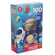 Quebra - Cabeça Conhecendo os planetas 100 peças - GROW
