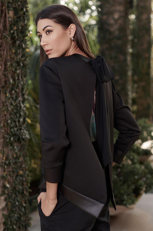 Blusa casaco neoprene cirrê