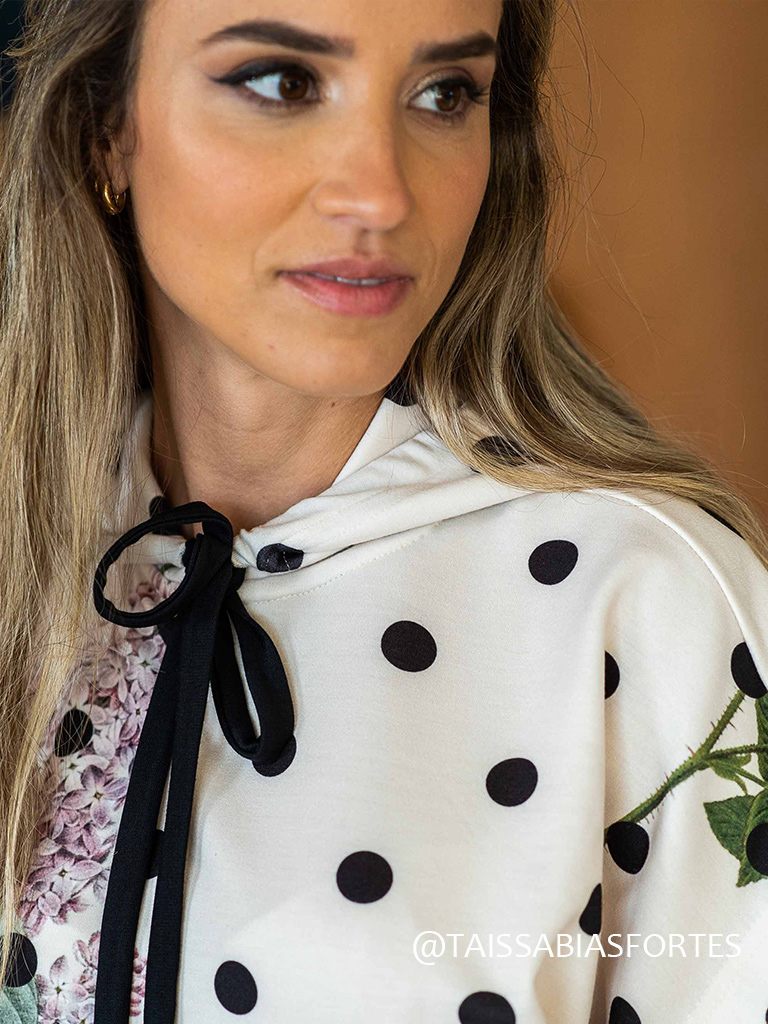Conjunto floral poá loungewear
