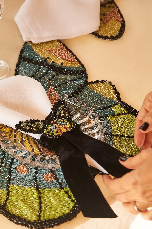 Collab Arte Sacra Casa + Ma Perle - Guardanapo 100% linho + Porta guardanapo borboleta
