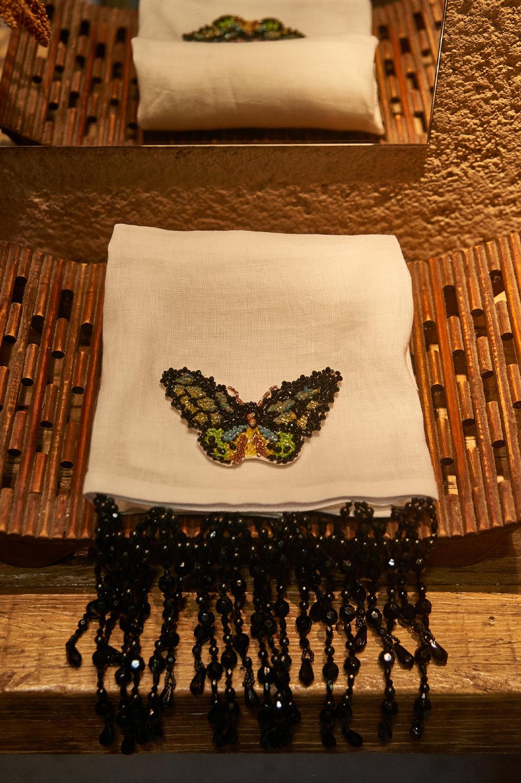 Collab Arte Sacra Casa + Ma Perle - Toalha lavabo 100% linho borboleta