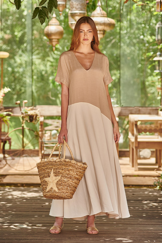 Vestido bicolor resort