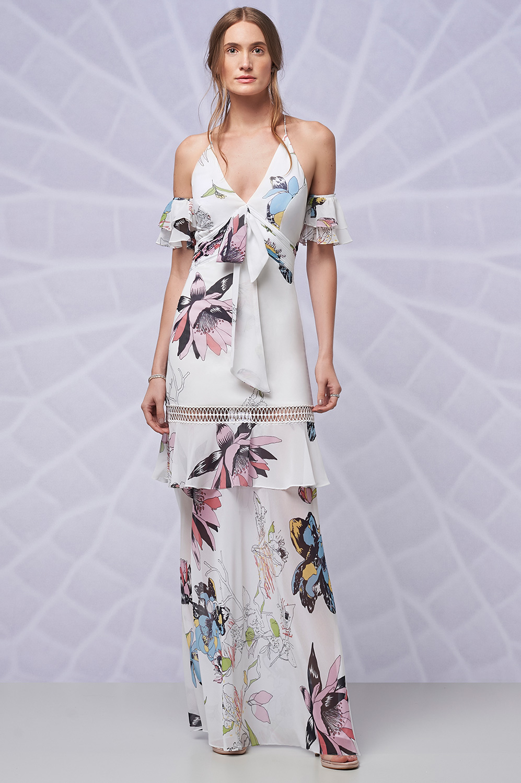 Vestido estampa plissada