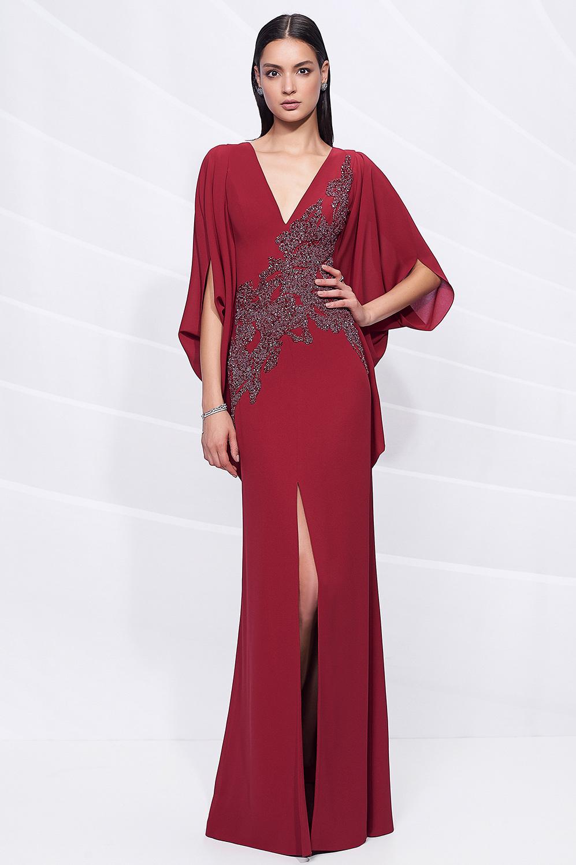 Vestido kaftan bordado cintura