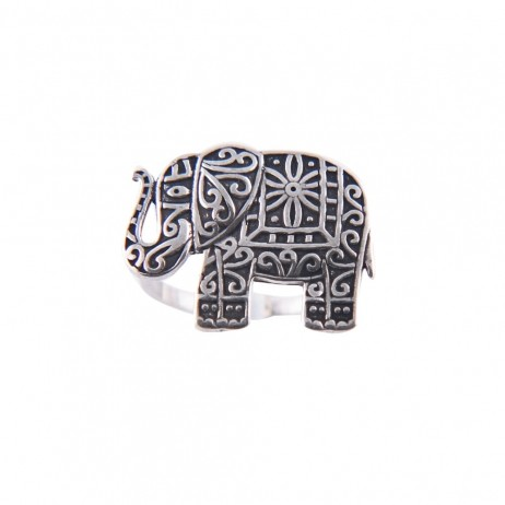 Anel de Prata Elefante