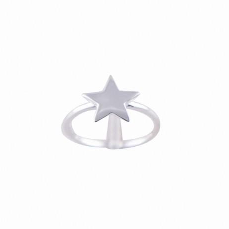 Anel de Prata Estrela