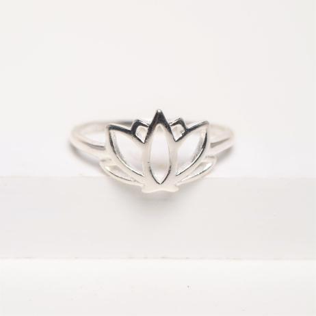 Anel de Prata Flor de Lótus