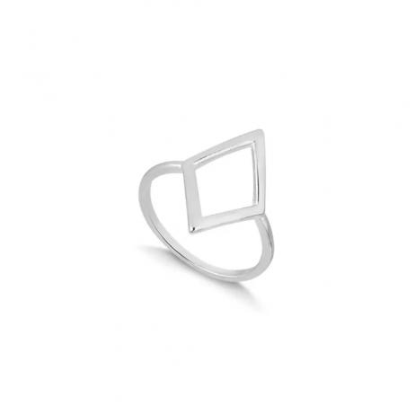 Anel de Prata Losango Pequeno