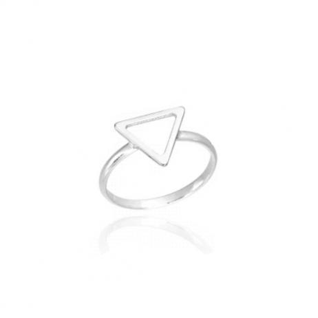 Anel de Prata Triângulo Vazado