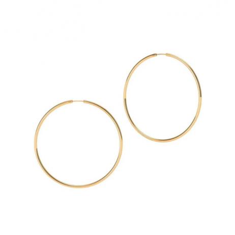 Argola Folheada a Ouro 4 cm
