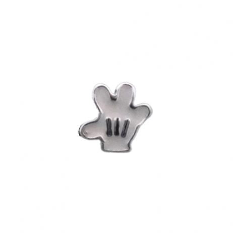 Berloque de Prata Separador Luva do Mickey