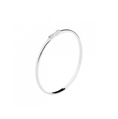 Bracelete de Prata Aro Liso Quadrado