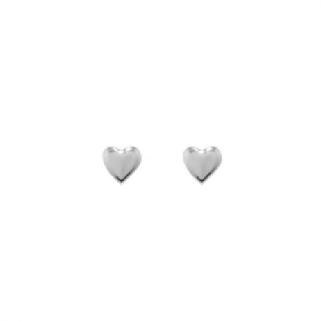 Brinco de Prata Coração Pequeno