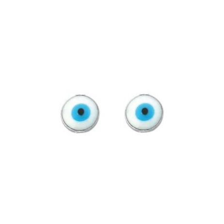 Brinco de Prata Olho Grego Pequeno