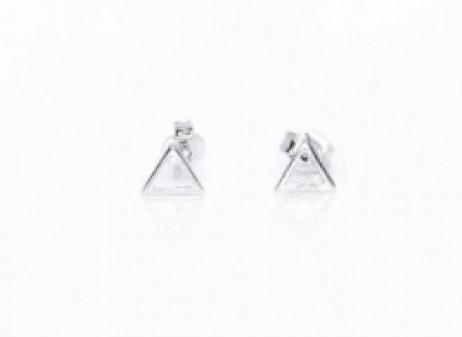 Brinco de Prata Triângulo Vazado Pequeno