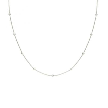 Colar de Prata Bolinhas 60 cm