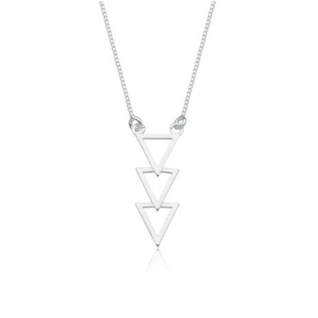 Colar de Prata 3 Triângulos
