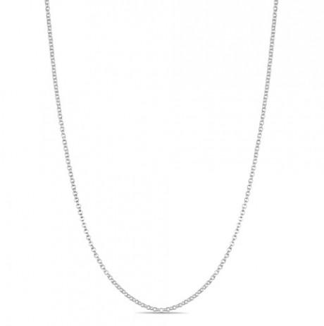 Corrente de Prata Elo Português fino 45 cm
