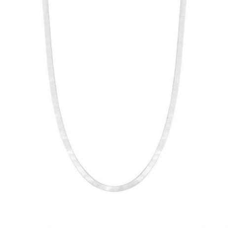Corrente de Prata Fita Laminada 40 cm