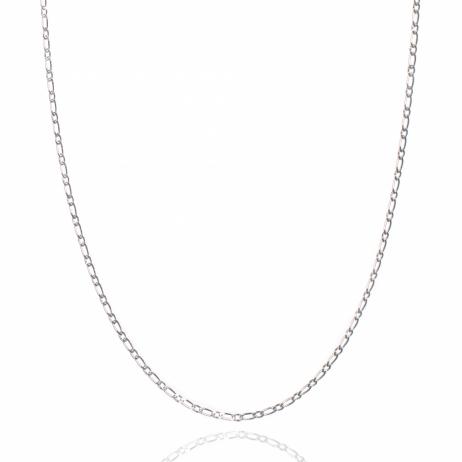 Corrente de Prata Grumet 1x1 50 cm