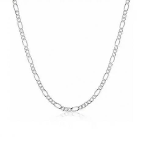 Corrente de Prata Grumet 3x1 80 cm