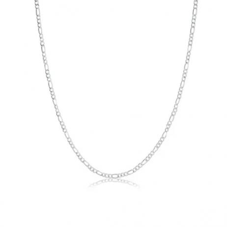 Corrente de Prata Grumet 3x1 Fina 50 cm