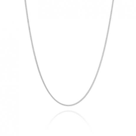Corrente de Prata Grumet Fino 60 cm