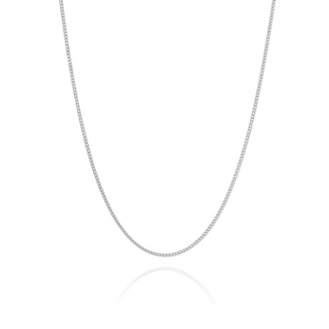 Corrente de Prata Grumet Fino 80 cm