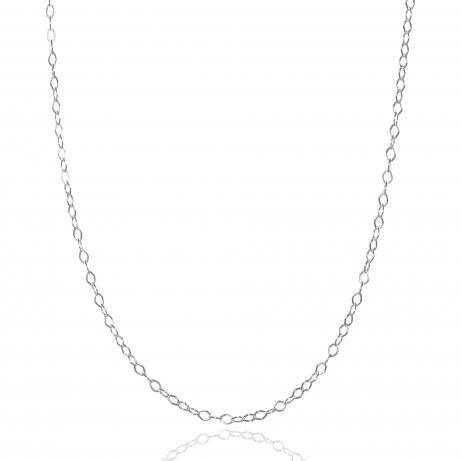 Corrente de Prata Losangos 45 cm