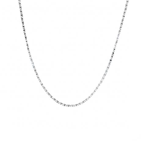 Corrente de Prata Piastrine 55 cm